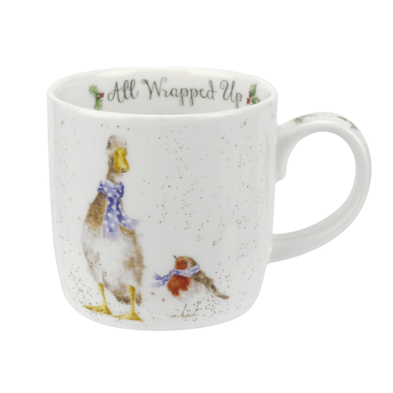 Wrendale Designs All Wrapped Up Christmas Mug