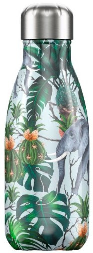 Chilly's Drink Bottle 260 ml Tropical Elephant -glad en glanzend-