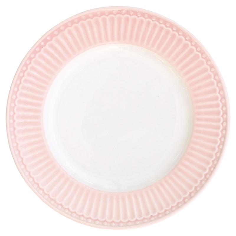 GreenGate Small Plate Alice pale pink -stoneware-
