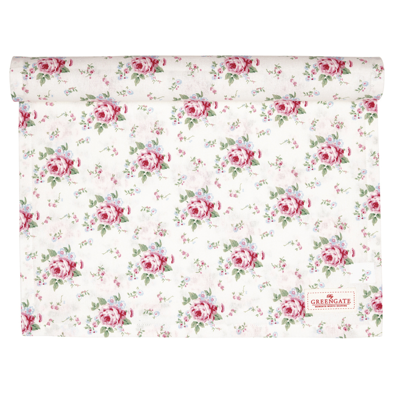 GreenGate Table Runner Marley petit white 45 x 140 cm
