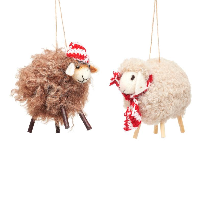 Sass & Belle Sheep Felt Decoration -set van 2-