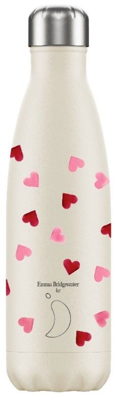 Chilly's Drink Bottle 500 ml Emma Bridgewater Pink Hearts -mat met reliëf-