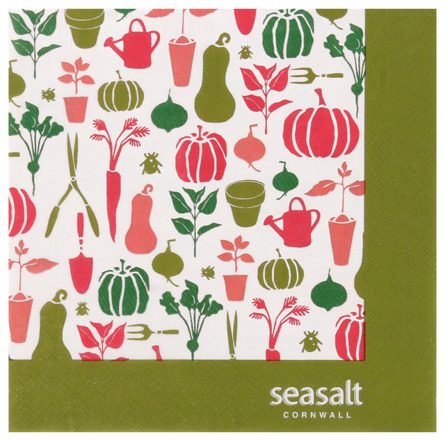 Ulster Weavers Paper Napkins Seasalt Allotment - set of 20