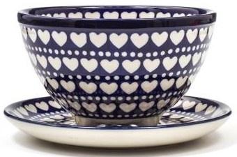 Bunzlau Berry Bowl Small  Blue Valentine