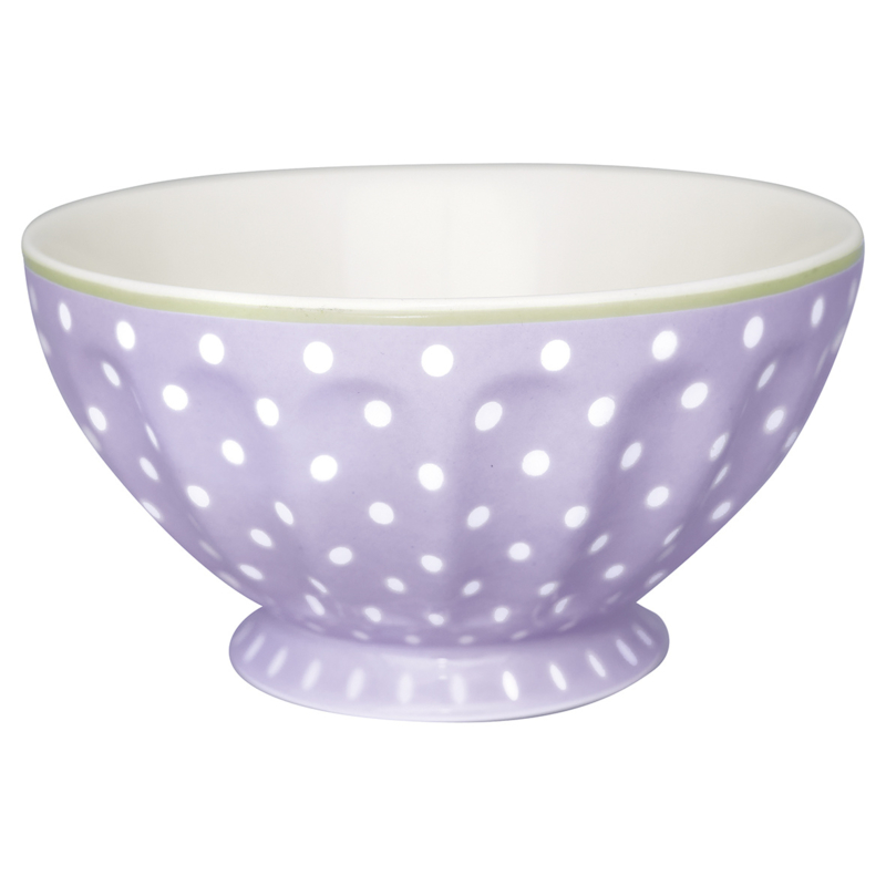 GreenGate French Bowl Extra Large Spot Lavender -stoneware-