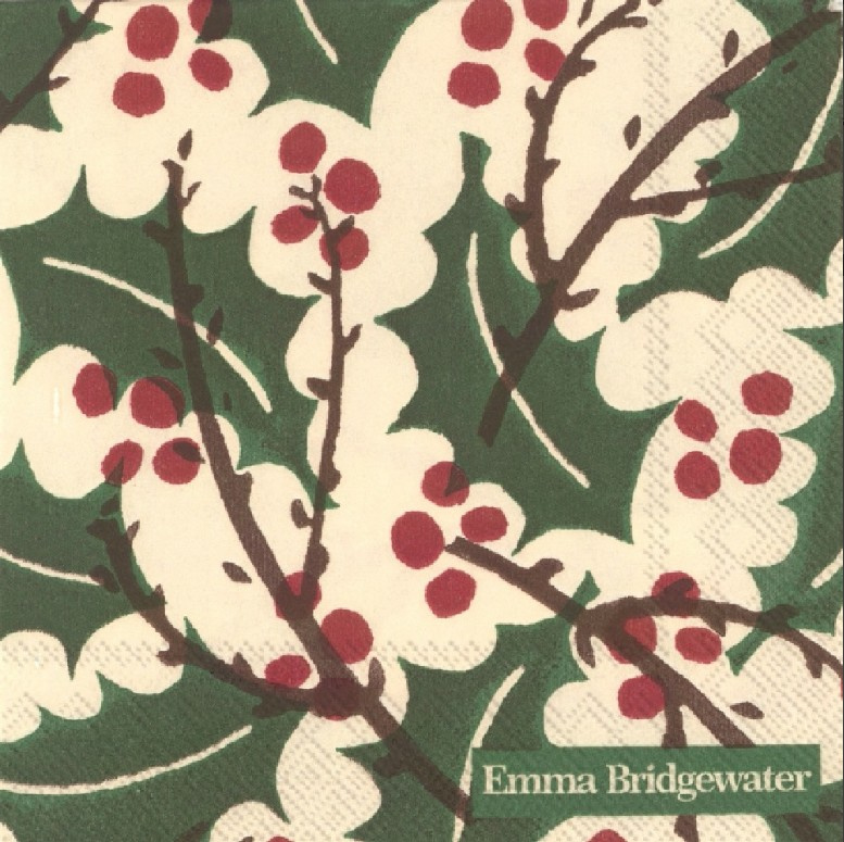 Emma Bridgewater Holly & Berry Cocktail Napkins
