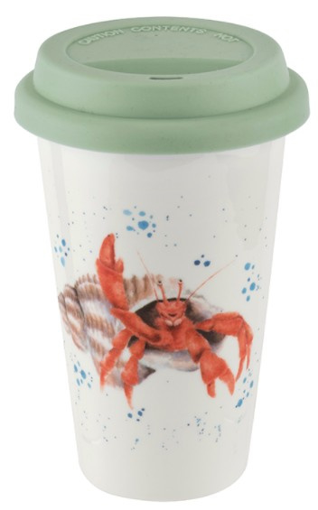 Wrendale Designs Travel Mug 'The Happy Crab'