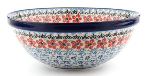 Bunzlau Bowl Large 28 cm Red Violets