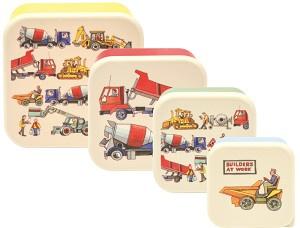 Emma Bridgewater Builders at Work Snack Boxes -set of 4-