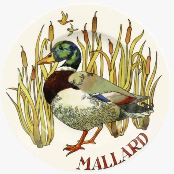"Emma Bridgewater Game Birds Mallard 8 1/2"" Plate"