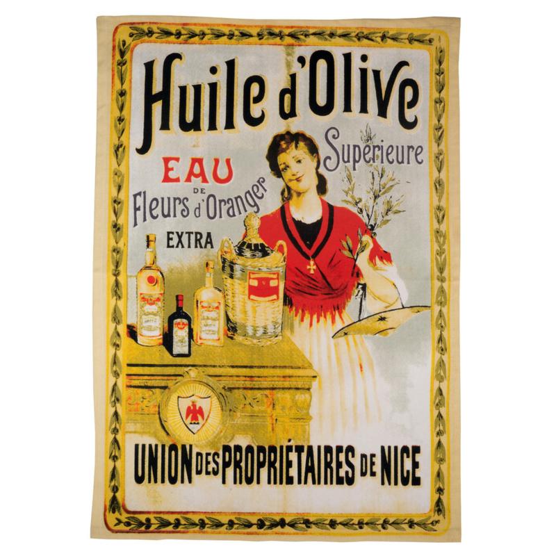 Theedoek Huile d'Olive