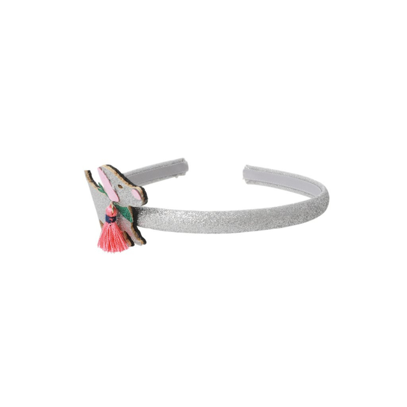 Rice Hairband with Silver Dog