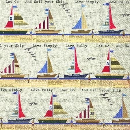 IHR Cocktail Napkins Ahoy Stripe