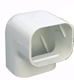 Haakse bocht 90 graden wit
