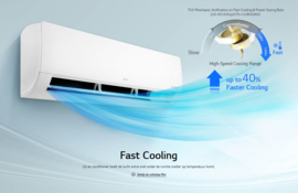 LG inverter smart split-unit 3,5 KW met warmtepomp