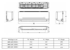 Maxicool CHIGO 3,5 KW R32 inverter set A++