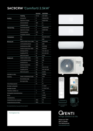 CHIGO QVENTI SAC9CRW Koelen en warmtepomp model 2021 A++