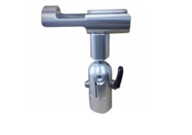 Short style rod holder zilver