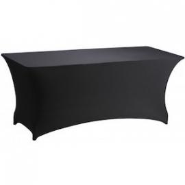 Buffettafel met zwarte slim-fit tafelrok