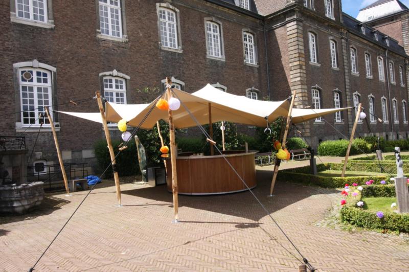 Flextent 8 x 6 meter (taupe)