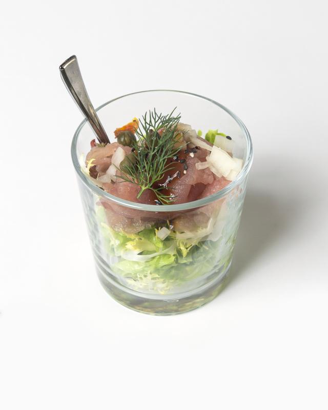 15 luxe plus borrelhapjes/ rauwe tonijn