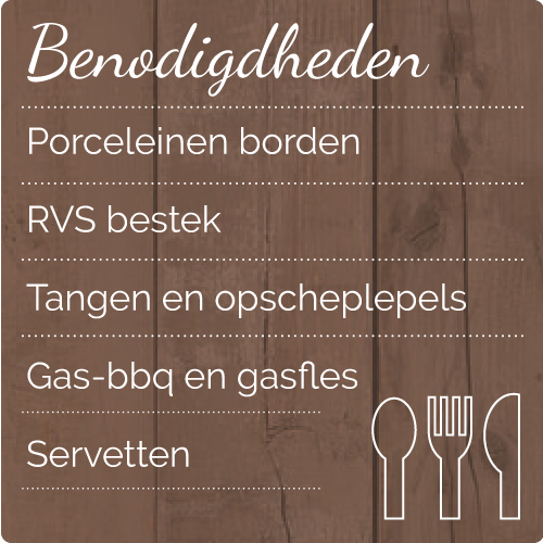 catering barbecue_ benodigdheden
