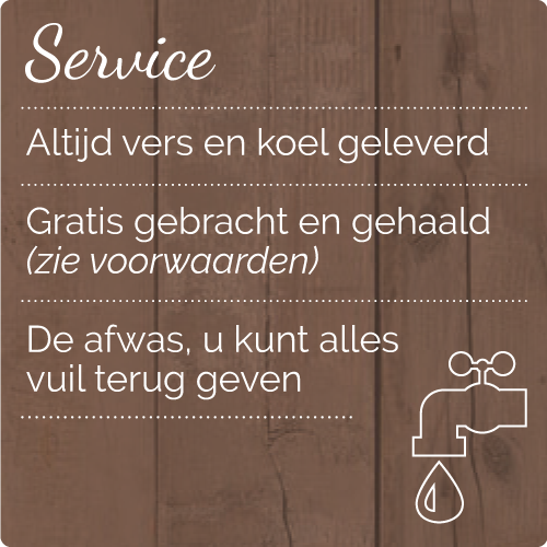 buffet Zuid Holland_service