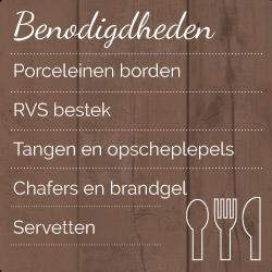 buffet Zuid Holland_benodigdheden