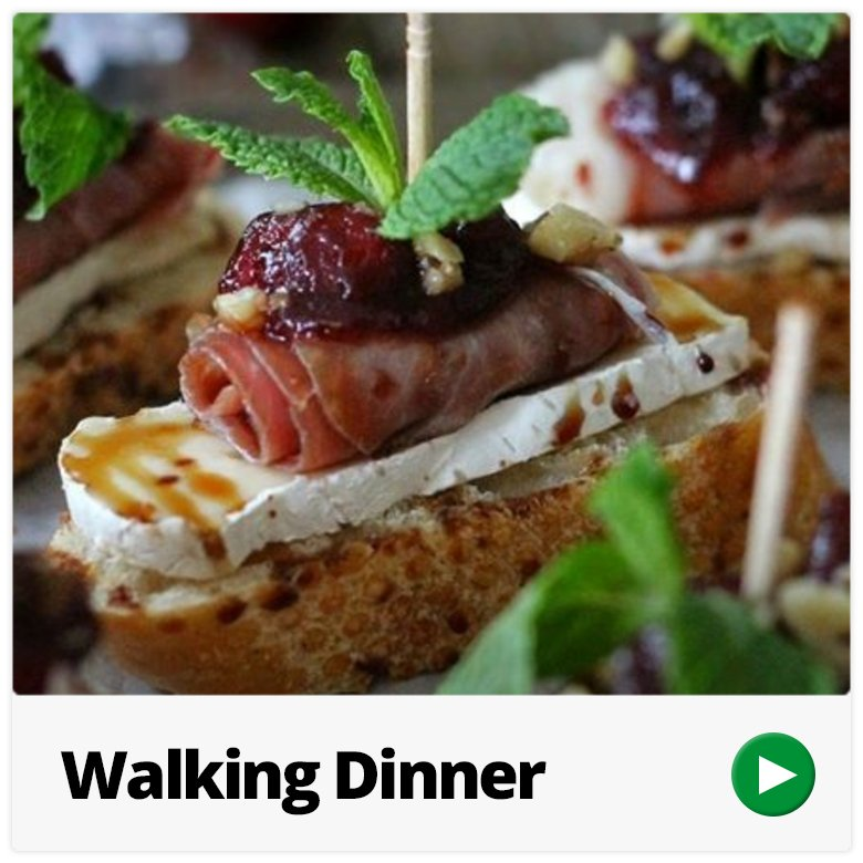 walking dinner catering Hoogvliet