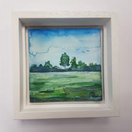 Landschap: Mini aquarel