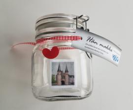 Weckpot /  voorraadpot met Waterpoort Sneek (Moai Fryslân)