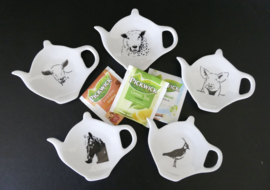 Teebeutel / Teetiphalter Schwein