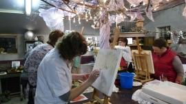 Resultaten: 4 november 2015 individuele opgave workshop schilderen  te Collendoorn
