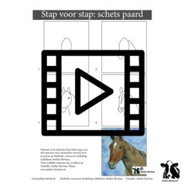 les live /tutorial schetsen: paard