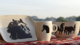 Paarden servies 1 persoon