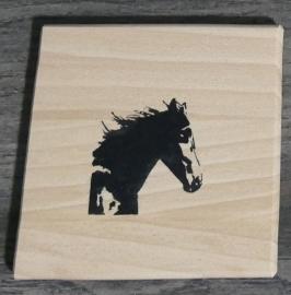 Paard pannen onderzetters hout.