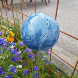 Bol keramiek (tafel decoratie of tuinsteker)