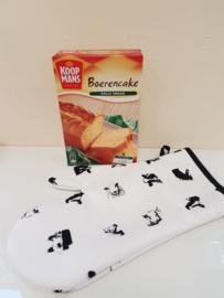 Boerderij dieren ovenhandschoen met boerencake (kado/cadeau)