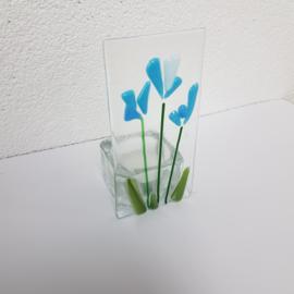 Sfeerlichtje bloemen glasfusion