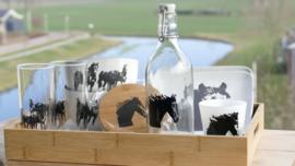 Paard kado/ cadeau / geschenk  (zwart wit)