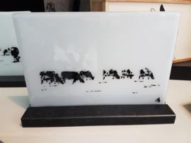 Glas fusion schilderij in houder