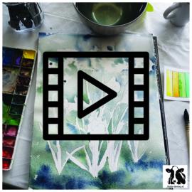 Live les / tutorial: narcis aquarel