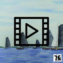 Live les / tutorialcaquarel: opzetten lucht bij skûtsjes