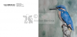 Ijsvogel wenskaart