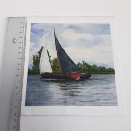 Zeilboot stofje 15 cm