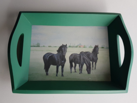 Dienblad paarden
