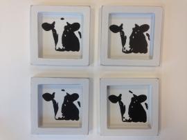 4 onderzetters koe