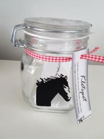 Kletspot met een paard
