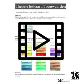 Live les / tutorial: Kleurtonen met  aquarel verf