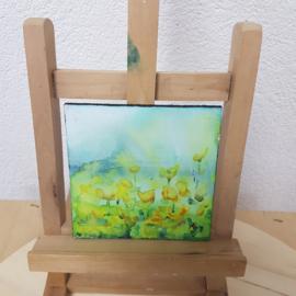 Bloemenveld: Mini aquarel